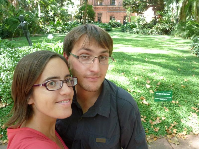 Au jardin botanique, Buenos Aires, Argentine