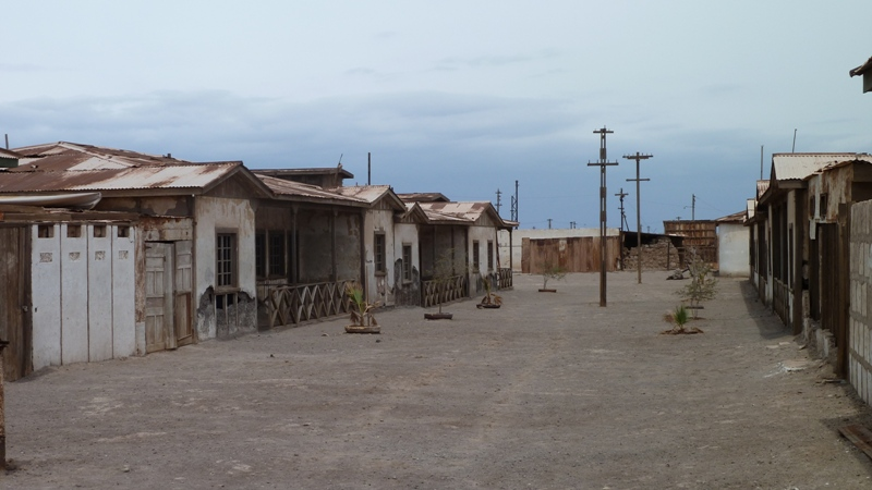 Rue déserte de Humberstone, Chili