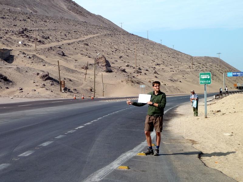 Rémi fait du stop, Iquique, Chili