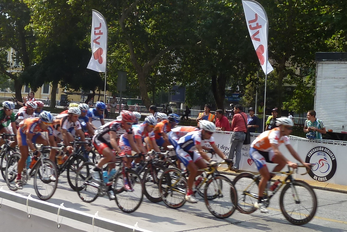 Cyclistes, Tour du Chili, Santiago