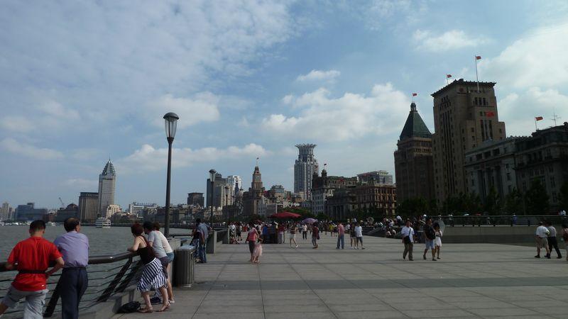 Sur le Bund, Shanghai, Chine