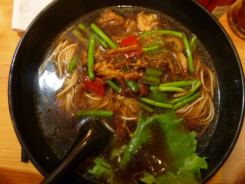 Soup with noodles and pork, Shanghai, China