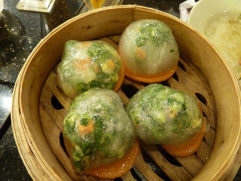 Kind of transparent dumplings stuffed with vegetables, Nanjing, China