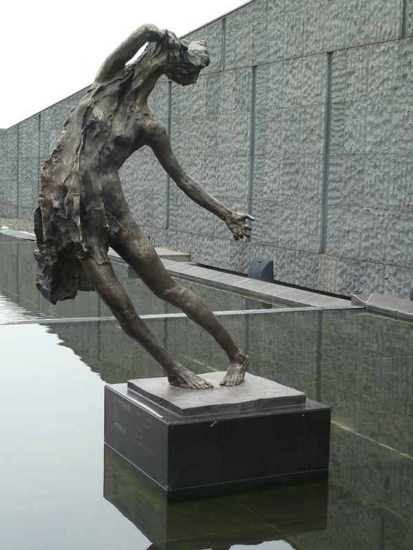 Sculpture in the memorial of Nanjing massacre, China