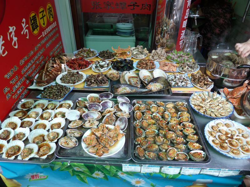 Seafood stalls, Qingdao, China