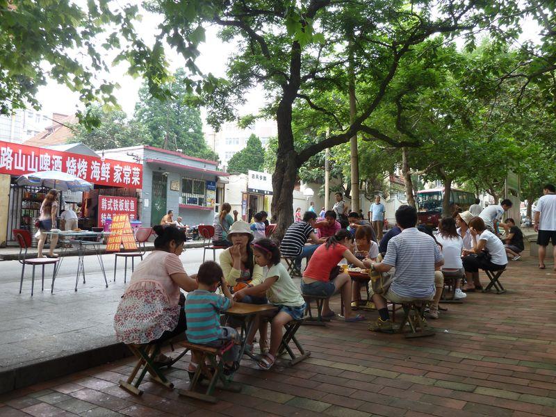 Street canteens, Qingdao, China