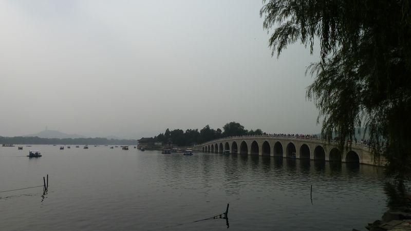 Pont aux 17 arches du palais d'été, Beijing, Chine