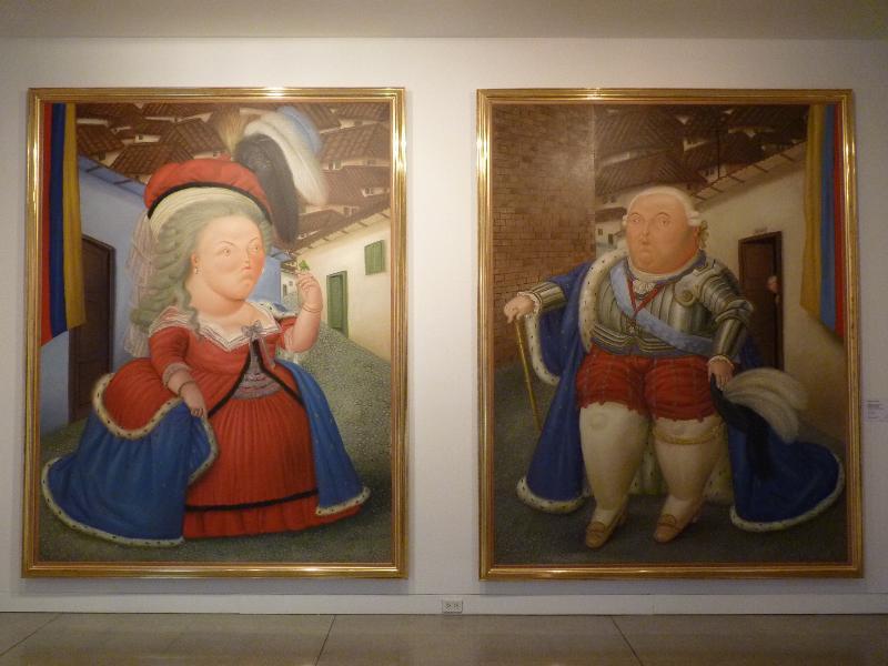 Louis XIV et Mari Antoinette par Botero