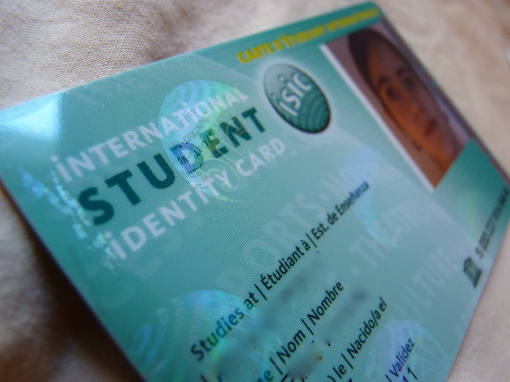 carte ISIC International Student Identity Card