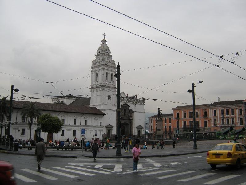 Quito, place de l'indépendance