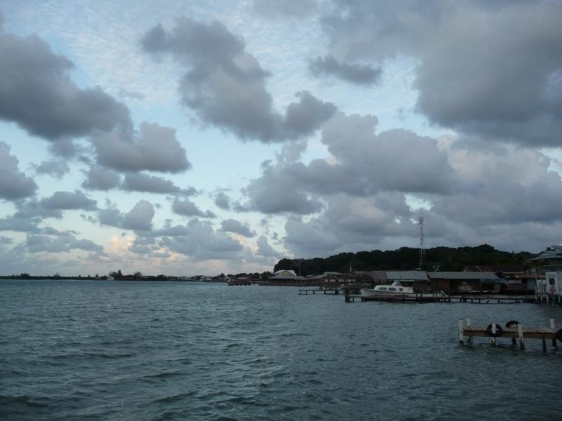 Utila, vue du dock