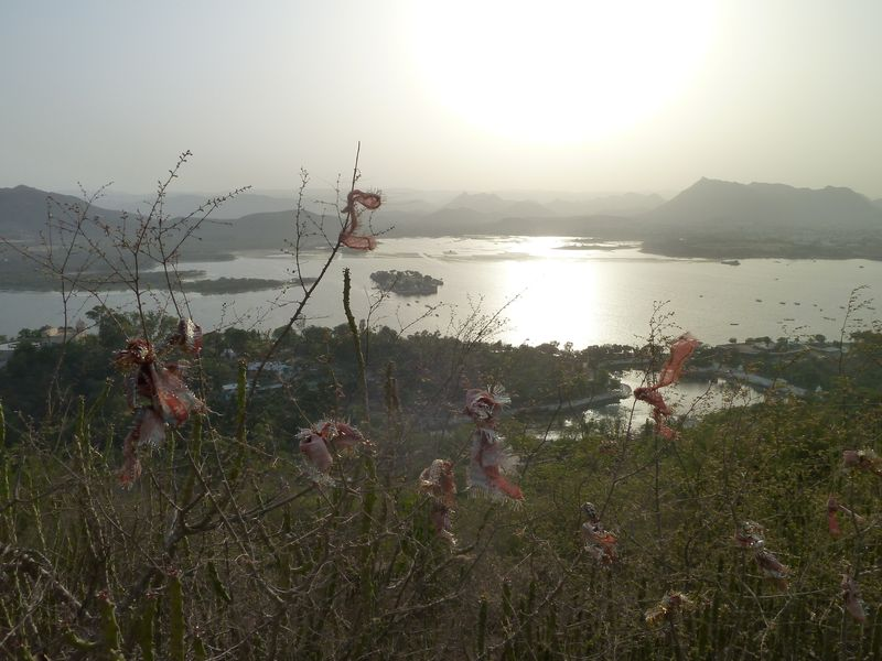 Vue de la colline, Udaipur, Inde