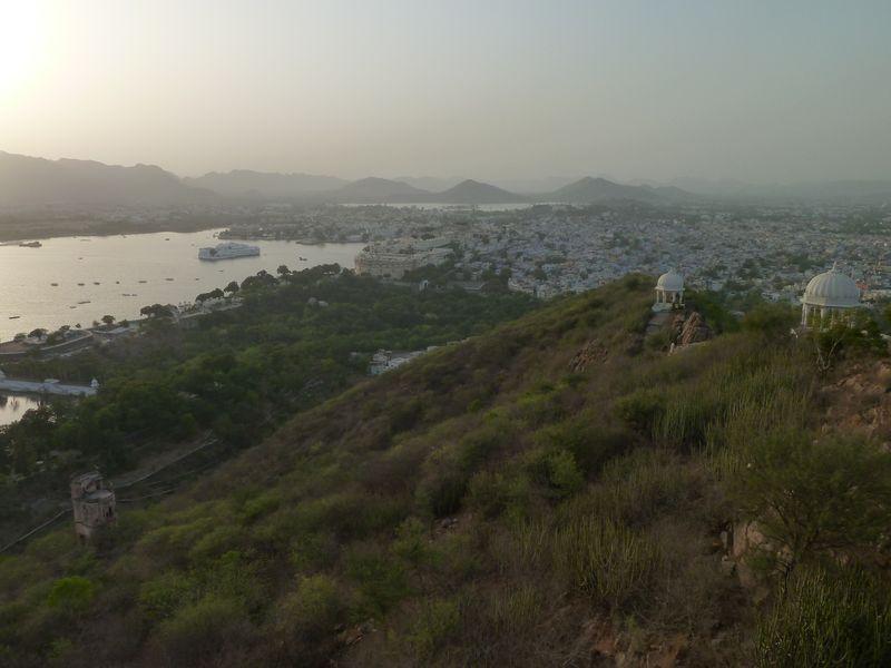 Udaipur, view of Shivaji Nagar, India