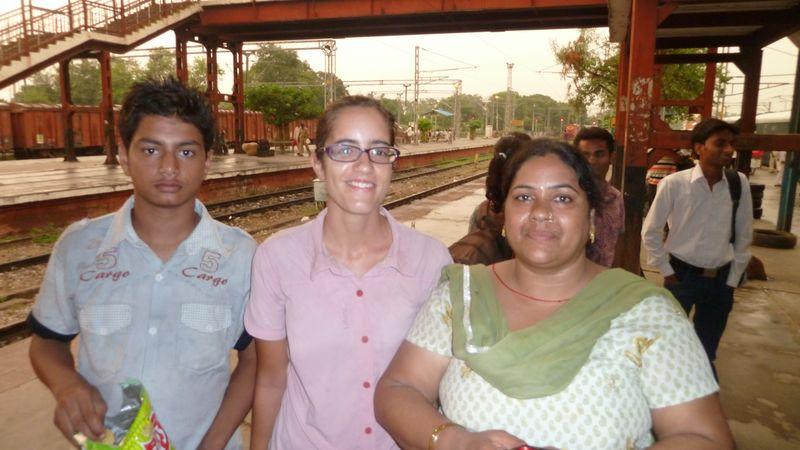 Avec Nitu, gare de Meerut, Inde