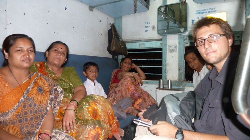 In the train to Delhi with Bhramans, India