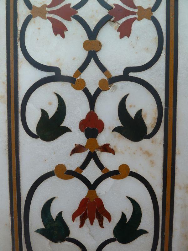 Détail du Taj Mahal, Agra, Inde