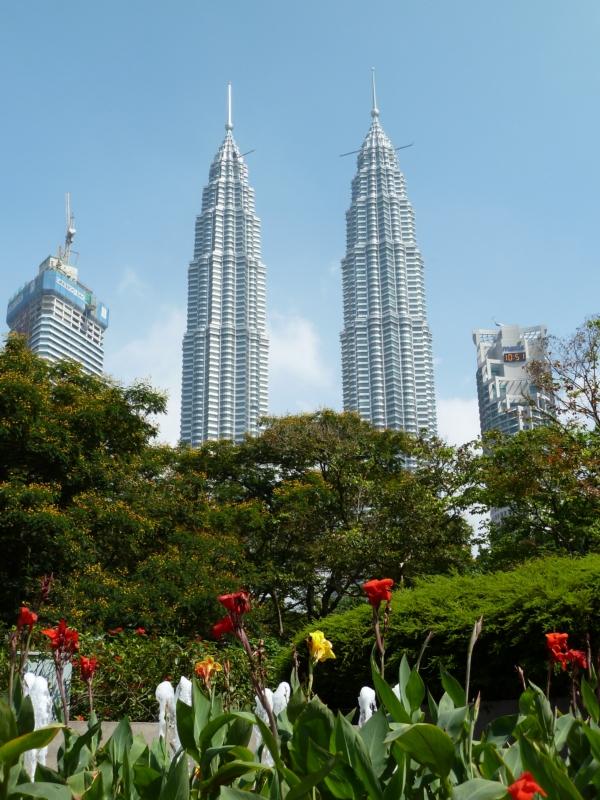 Les tours jumelles Petronas, Kuala Lumpur, Malaisie