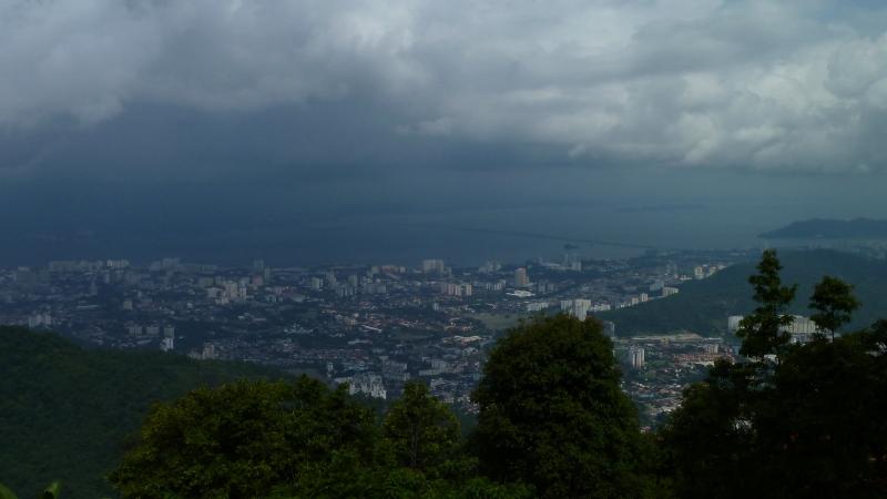 Vue de Georgetown de Penang Hill, Malaisie