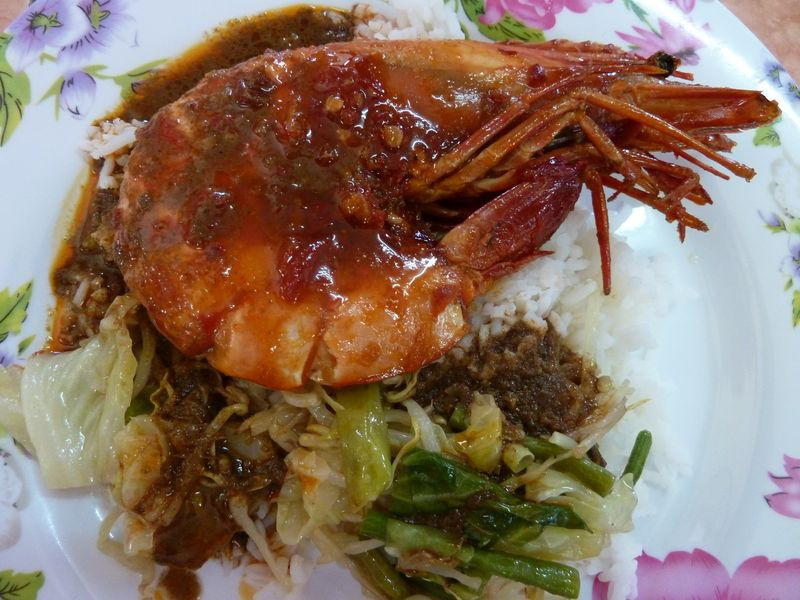 Big shrimp, eaten in the Kota Bahru