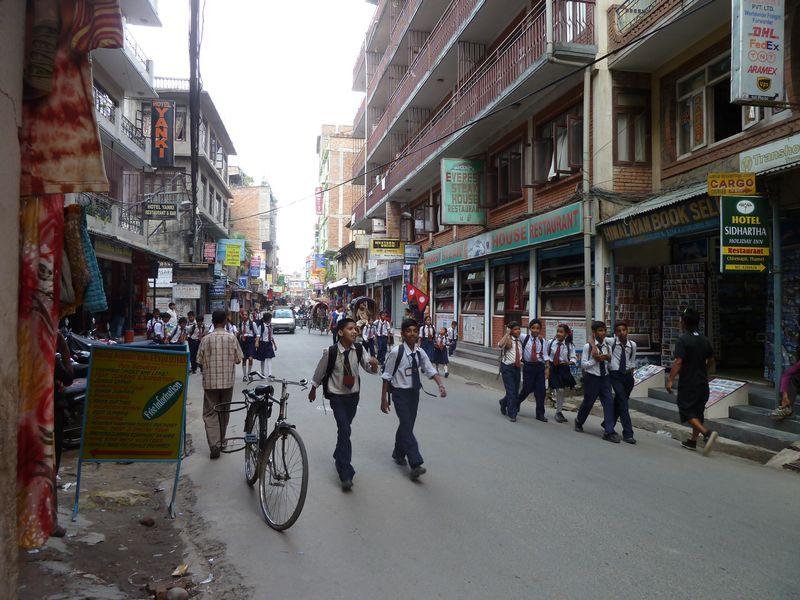 Dans les rues de Katmandou, Népal