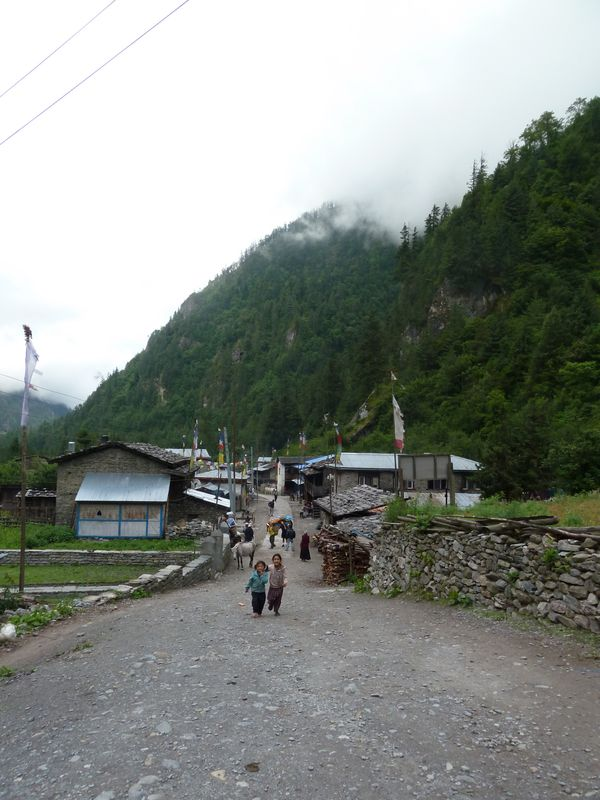 Village of Dharapani, around Annapurnas, Nepal