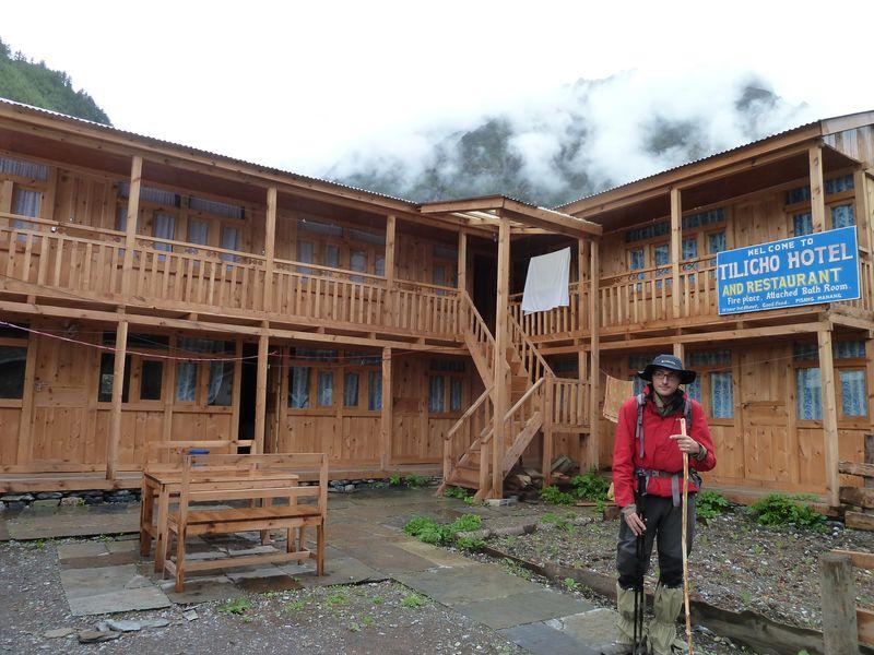 Lodge-chalet, Pisang, autour des Annapurnas, Népal