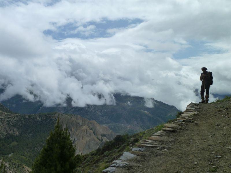Vers la grotte de Milarepa, Manang, Népal