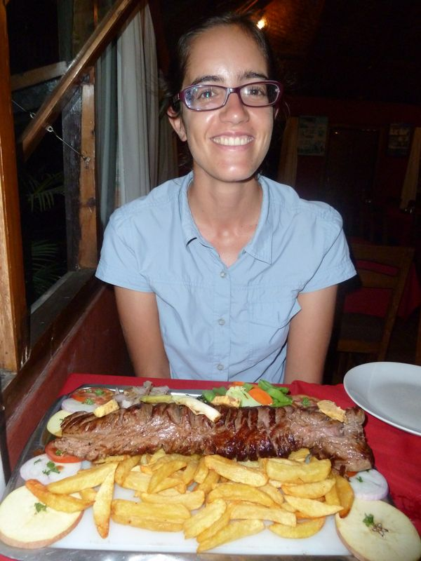 Avec le chateaubriand de 1kg, Everest Steak House, Pokhara, Népal