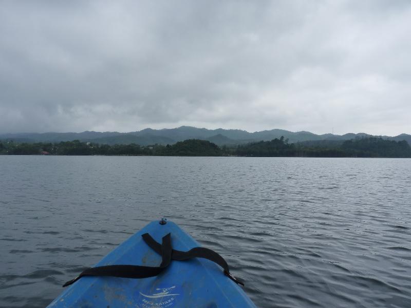 Kayak sur le lac de Tziscao