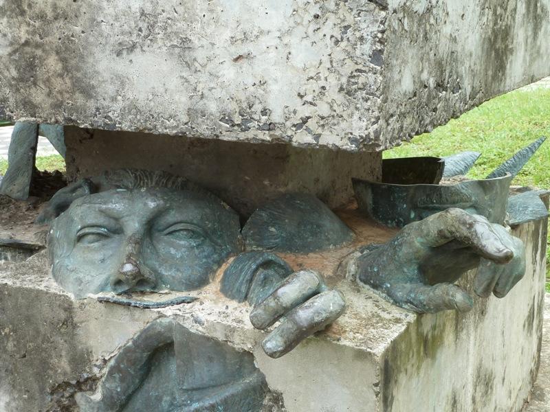 Sculpture du dictateur Paraguayen déchu, Alfredo Stroessner, Asunción, Paraguay