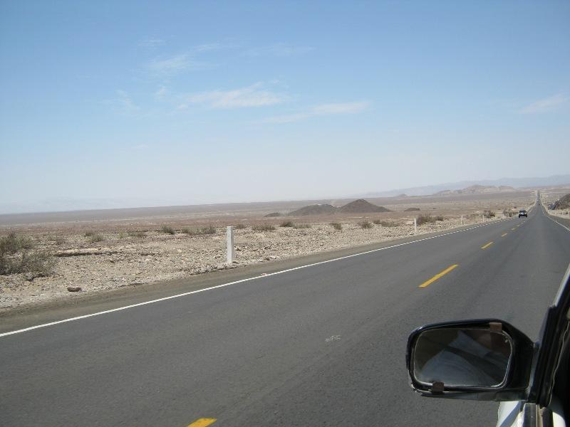 En taxi sur le chemin du mirador pour voir les figures de Nazca