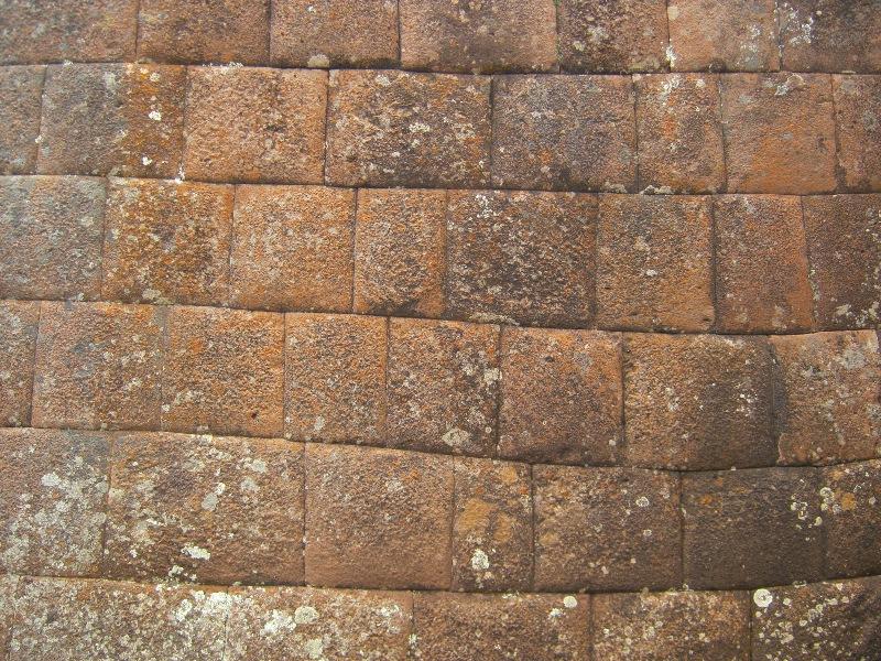 Mur bien ajusté sur le site de Pisac