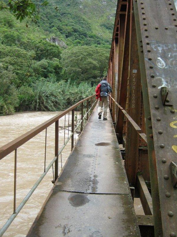 Pont sur le chemin du Machu Pichu
