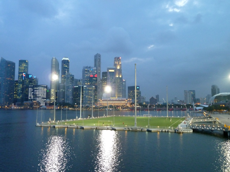 Football field, Marina Bay, Singapore