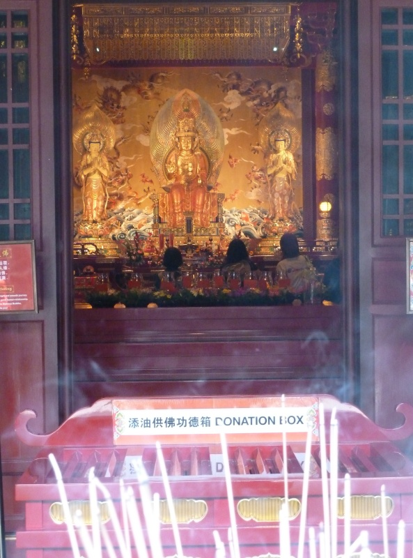 Temple chinois, chinatown, Singapour