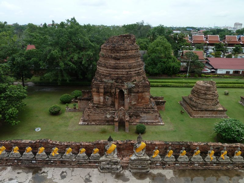 Wat Yai Chai Mongkhon, view from the chedi, Ayutthaya, Thailand
