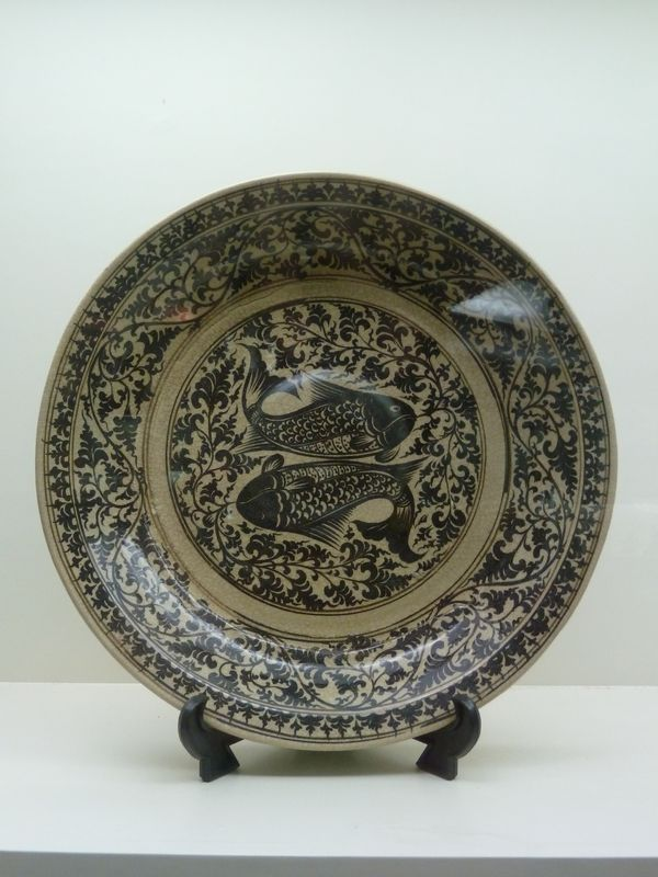 Plate, Sangkhalok museum, Sukhothai, Thailand