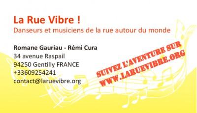 Carte de visite La Rue Vibre !